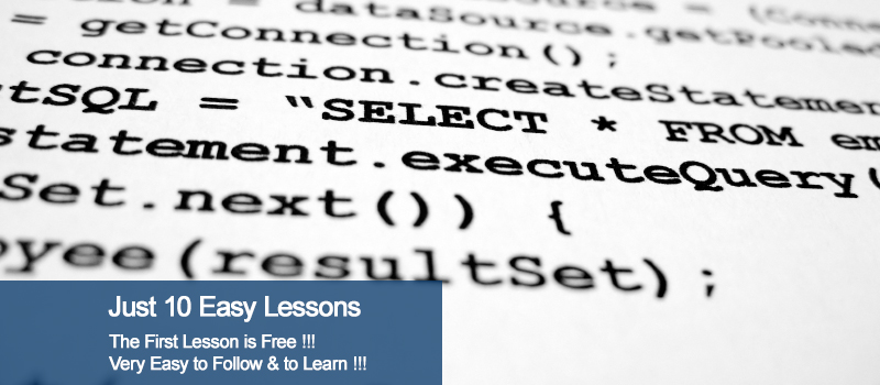 Just Ten Easy Lessons. The First Lesson is Free.