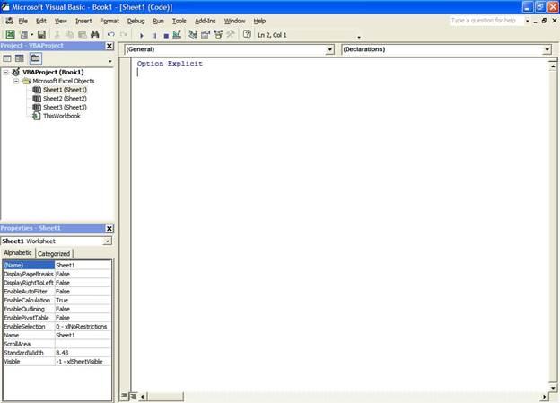 Excel VBA Training Lesson 1